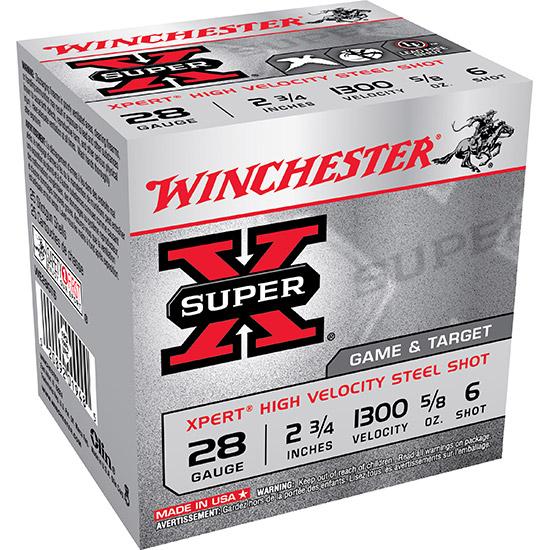 Winchester Ammo WE28GT6 Expert 28 Gauge 2.75 5|8 oz 6 Shot 25 Bx| 10 Cs in.