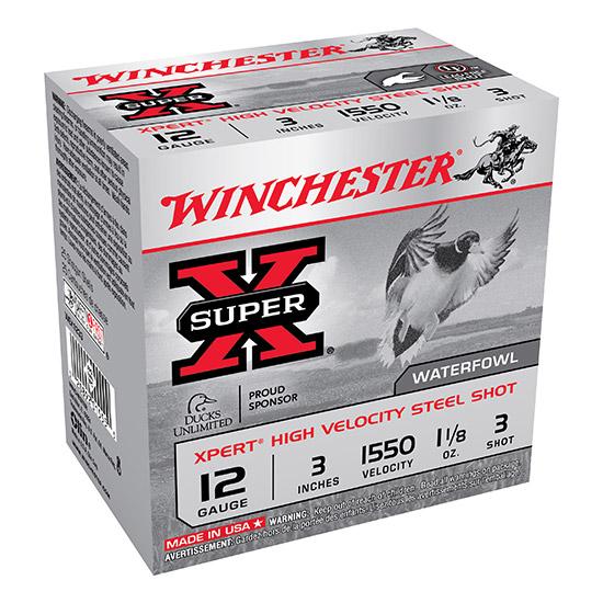 Winchester Ammo WEX1233 Expert Hi-Velocity 12 Gauge 3 1-1|8 oz 3 Shot 25 Bx| 10 Cs in.