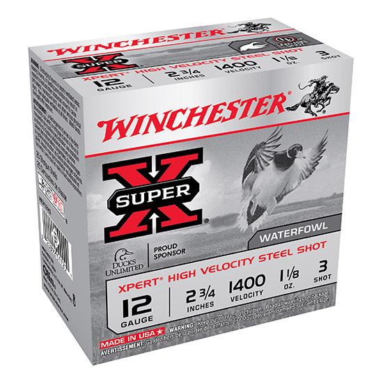 Winchester Ammo WEX12H3 Expert Hi-Velocity 12 Gauge 2.75 1-1|8 oz 3 Shot 25 Bx| 10 Cs in.