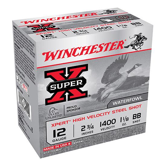 Winchester Ammo WEX12HBB Expert Hi-Velocity 12 Gauge 2.75 1-1|8 oz BB Shot 25 Bx| 10 Cs in.