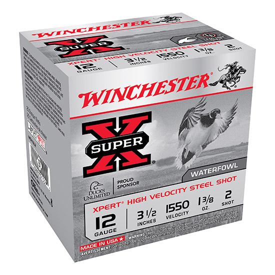 Winchester Ammo WEX12L2 Expert Hi-Velocity 12 Gauge 3.5 1-3|8 oz 2 Shot 25 Bx| 10 Cs in.