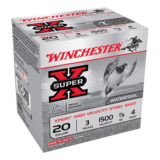 Winchester Ammo WEX2034 Expert Hi-Velocity 20 Gauge 3 7|8 oz 4 Shot 25 Bx| 10 Cs in.