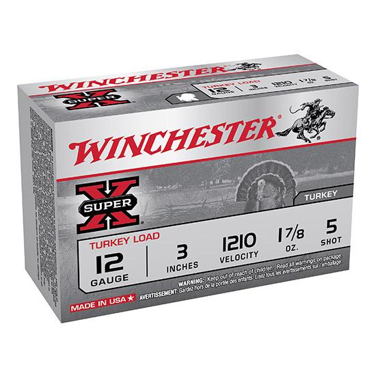 Winchester Ammo X123MT5 Super-X Turkey 12 Gauge 3 1-7|8 oz 5 Shot 10 Bx|10 Cs in.