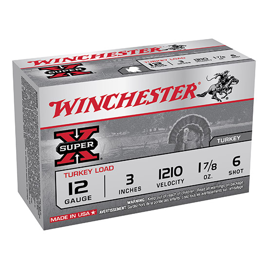 Winchester Ammo X123MT6 Super-X Turkey 12 Gauge 3 1-7|8 oz 6 Shot 10 Bx| 10 Cs in.