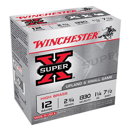 Winchester Ammo X127 Super-X High Brass Game 12 Gauge 2.75 1-1|4 oz 7.5 Shot 25 Bx| 10 Cs in.
