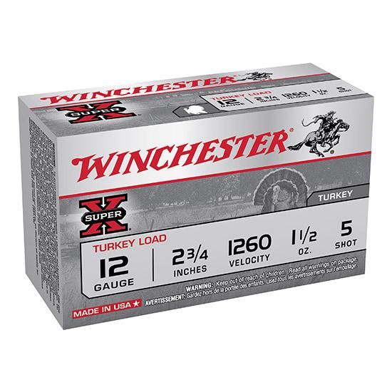 Winchester Ammo X12MT5 Super-X Turkey 12 Gauge 2.75 1-1|2 oz 5 Shot 10 Bx| 10 Cs in.