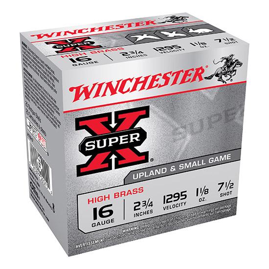 Winchester Ammo X16H7 Super-X High Brass Game 16 Gauge 2.75 1-1|8 oz 7.5 Shot 25 Bx| 10 Cs in.