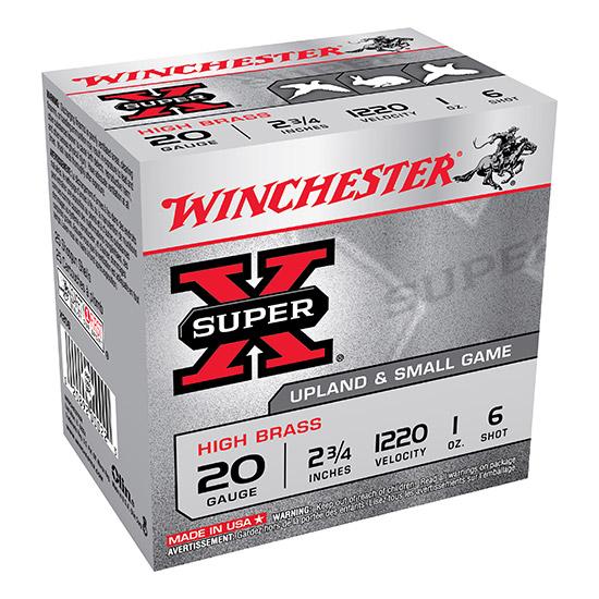 Winchester Ammo X206 Super-X High Brass Game 20 Gauge 2.75 1 oz 6 Shot 25 Bx| 10 Cs in.