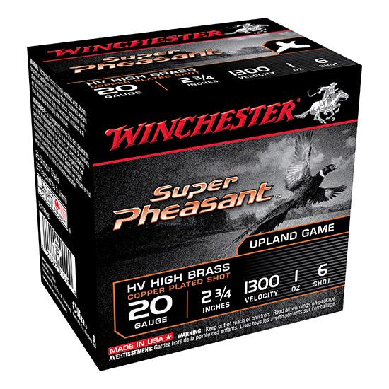 Winchester Ammo X20PH6 Super Pheasant Plated HV 20 Gauge 2.75 1 oz 6 Shot 25 Bx| 10 Cs in.