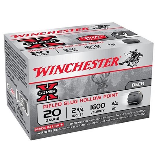 Winchester Ammo X20RSM5VP Super-X 20 Gauge 2.75 3|4 oz Slug Shot 15 Bx| 10 Cs in.