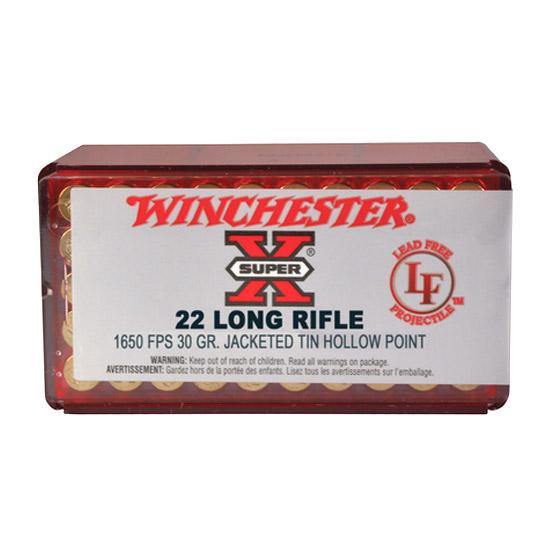 Winchester Ammo X22LRHLF Super-X 22 Long Rifle 26 GR Hollow Point 50 Bx| 40 Cs