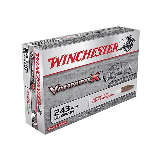 Winchester Ammo X243PXL Varmint X 243 Winchester 58 GR Varmint 40 Bx| 5 Cs