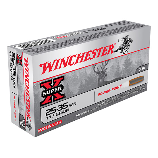 Winchester Ammo X2535 Super-X 25-35 Winchester 117 GR Soft Point 20 Bx| 10 Cs