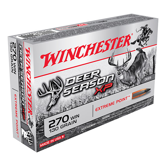 Winchester Ammo X270DS Deer Season XP 270 Winchester 130 GR Extreme Point 20 Bx| 10 Cs