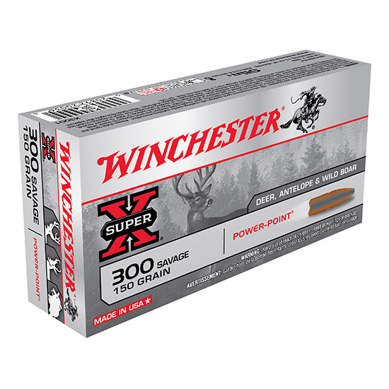 Winchester Ammo X3001 Super-X 300 Savage 150 GR Power-Point 20 Bx| 10 Cs