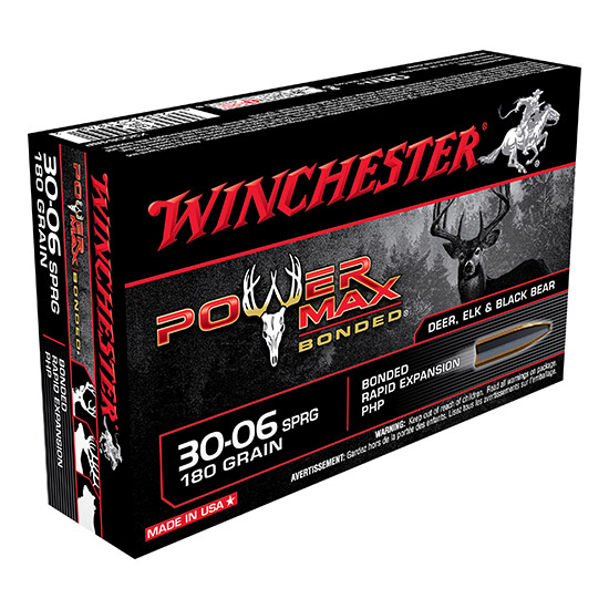 Winchester Ammo X30064BP Super-X 30-06 Springfield 180 GR Power Max Bonded 20 Bx|10 Cs