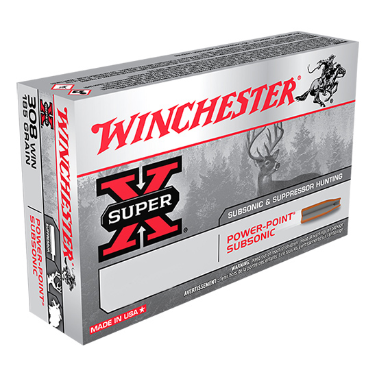 Winchester Ammo X300BLKX Super-X 300 AAC Blackout|Whisper (7.62X35mm) 200 GR Hollow Point SubSonic 20 Bx| 10 Cs