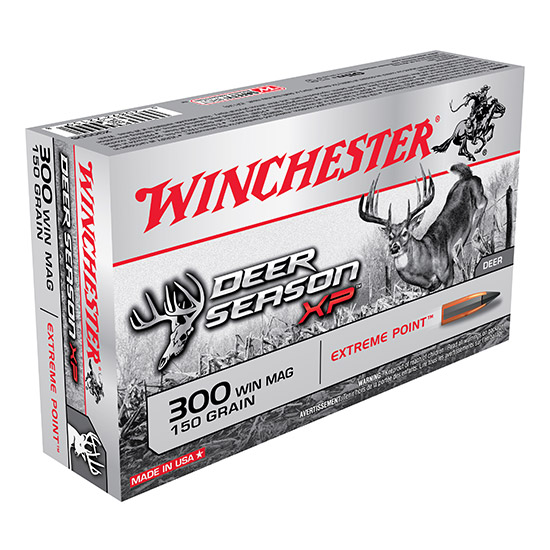 Winchester Ammo X300DS Deer Season XP 300 Winchester Magnum 150 GR Extreme Point 20 Bx| 10 Cs