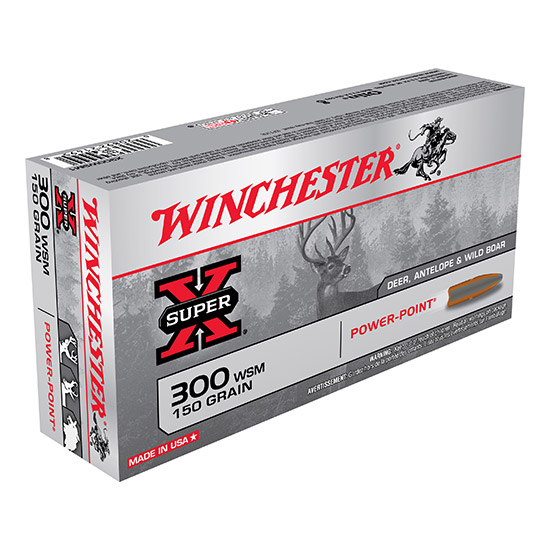 Winchester Ammo X300WSM1 Super-X 300 Winchester Short Magnum 150 GR Power-Point 20 Bx| 10 Cs