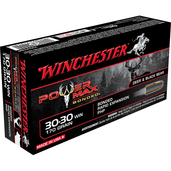Winchester Ammo X30303BP Super-X 30-30 Winchester 170 GR Power Max Bonded 20 Bx| 10 Cs