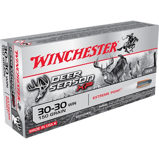 Winchester Ammo X3030DS Deer Season XP 30-30 Winchester 150 GR Extreme Point 20 Bx| 10 Cs