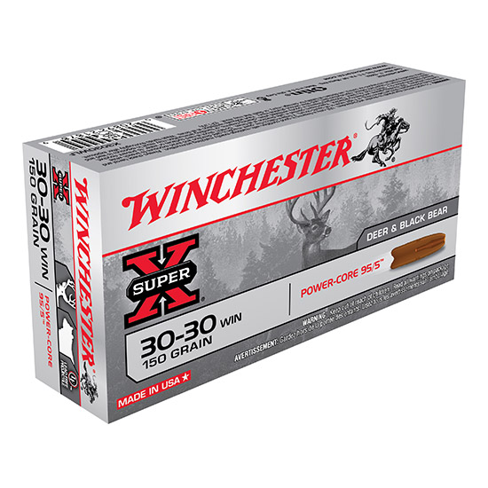 Winchester Ammo X3030WLF Super-X 30-30 Winchester 150 GR Power Core 20 Bx| 10 Cs