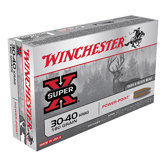 Winchester Ammo X30401 Super X 30-40 Krag Power-Point 180 GR 20Box|10Case