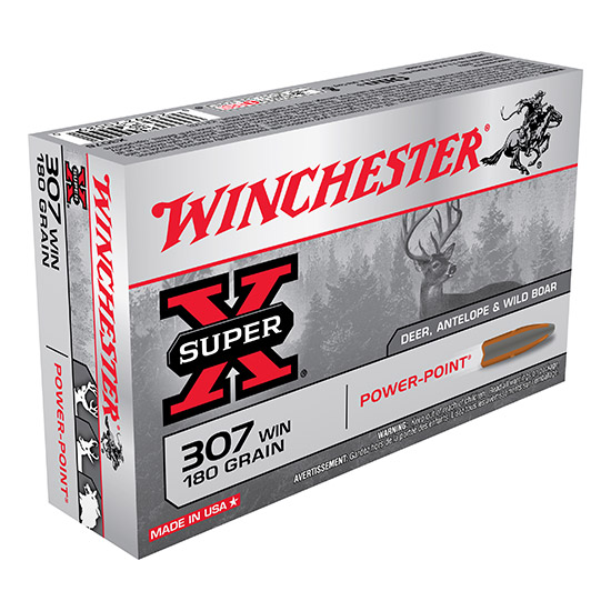 Winchester Ammo X3076 Super X 307 Winchester Power-Point 180 GR 20Box|10Case