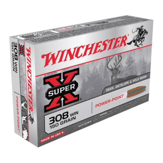 Winchester Ammo X3085 Super-X 308 Winchester|7.62 NATO 150 GR Power-Point 20 Bx| 10 Cs