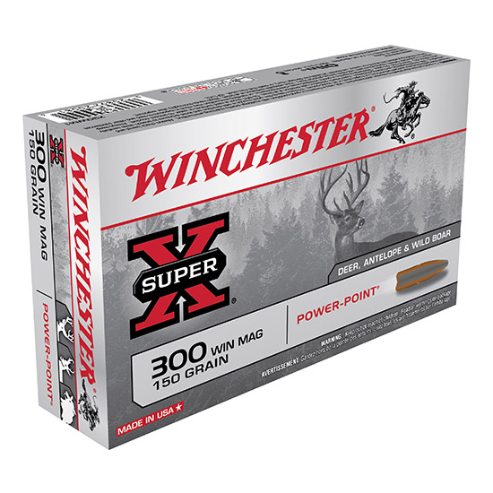 Winchester Ammo X30WM1 Super-X 300 Winchester Magnum 150 GR Power-Point 20 Bx| 10 Cs