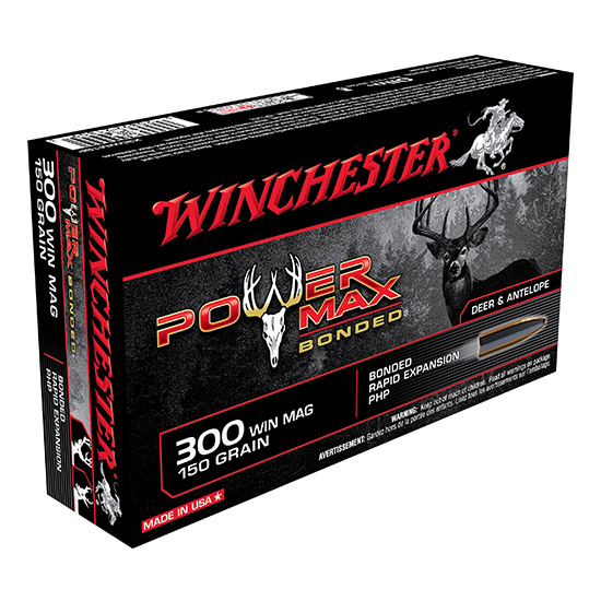 Winchester Ammo X30WM1BP Super-X 300 Winchester Magnum 150 GR Power Max Bonded 20 Bx| 10 Cs