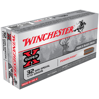 Winchester Ammo X32WS2 Super-X 32 Winchester Special 170 GR Power-Point 20 Bx|10 Cs