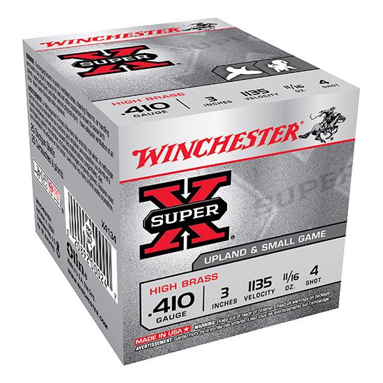 Winchester Ammo X4134 Super-X High Brass Game 410 Gauge 3 11|16 oz 4 Shot 25 Bx| 10 in.