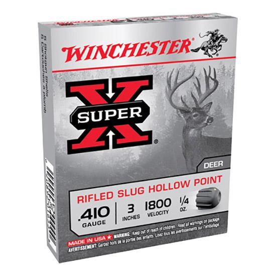 Winchester Ammo X413RS5 Super-X 410 Gauge 3 1|4 oz Slug Shot 5 Bx| 50 Cs in.