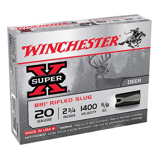 Winchester Ammo XRS20 Super-X Slugs 20 Gauge 2.75 BRI Sabot 5|8 oz Slug Shot 5 Bx| 50 Cs in.