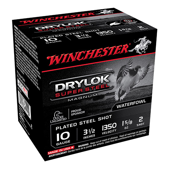 Winchester Ammo XSC102 Drylock 10 Gauge 3.5 1-5|8 oz 2 Shot 25 Bx| 10 Cs in.