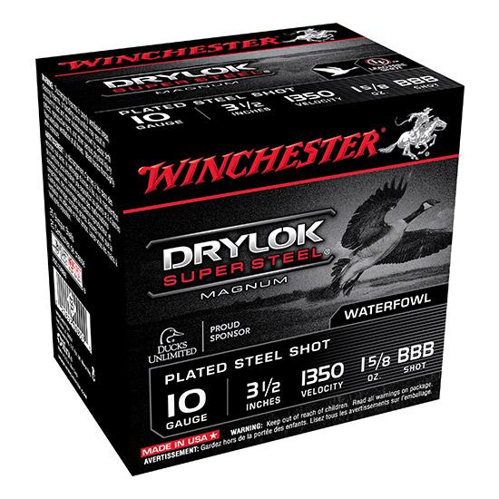 Winchester Ammo XSC10BBB Drylock 10 Gauge 3.5 1-5|8 oz BBB Shot 25 Bx|10 Cs in.