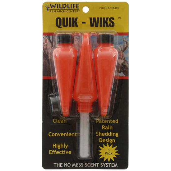 Wildlife Research 363 Quik Wiks Scent Dispersal Products Scent Dispenser 3-pack, Blister Carded