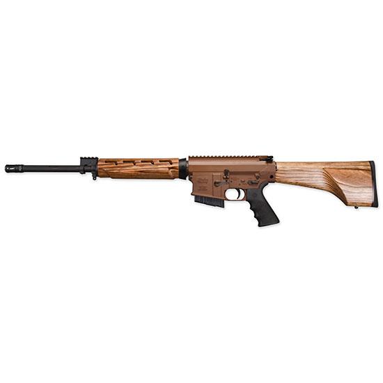 Windham Weaponry R18FFTWS2308 308 Hunter A2 Suppressor Semi-Automatic 308 Winchester|7.62 NATO 18 5+1 Laminate Wood Nutmeg Stk Brown|Black in.