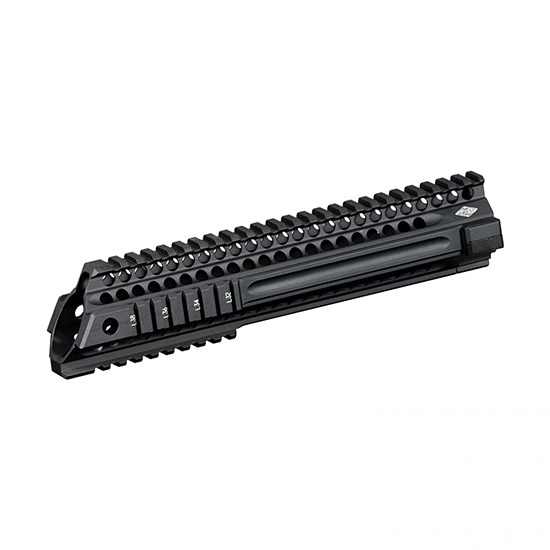 Yankee Hill 5145 SLR Slant 9.5 Specter Length Forearm AR-15 Quad Rail Keymod Aluminum Black Hard Coat Anodized in.