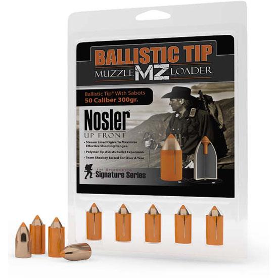 Nosler 50300 Ballistic Tip Muzzleloader 50 Cal Blk Pwdr Sabot 300GR 15/Bx