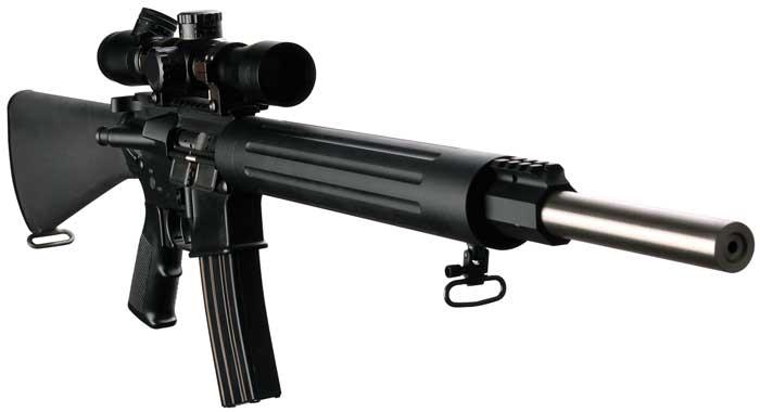 DPMS 60509 Bull 20 Varmint|Target Semi-Automatic 223 Remington|5.56 NATO 20 30+1 A2 Black Stock Black in.