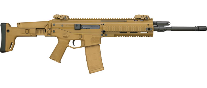 Bushmaster 90705 ACR Enhanced Semi-Automatic 223 Remington|5.56 NATO 16.5 AAC FH 30+1 OR Folding Adjustable Synthetic Coyote Stk Black Nitride in.
