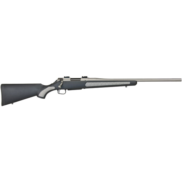T|C Arms 10175536 Venture Bolt 7mm Rem Mag 24 3+1 Synthetic w|Rubber Panels Black Stk Silver Weather Shield in.