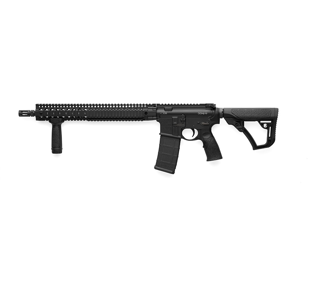 Daniel Defense 15175047 DDM4 V9 Semi-Automatic 5.56 NATO 16 30+1 6-Position Black Stk Black Hardcoat Anodized|Black Phosphate in.