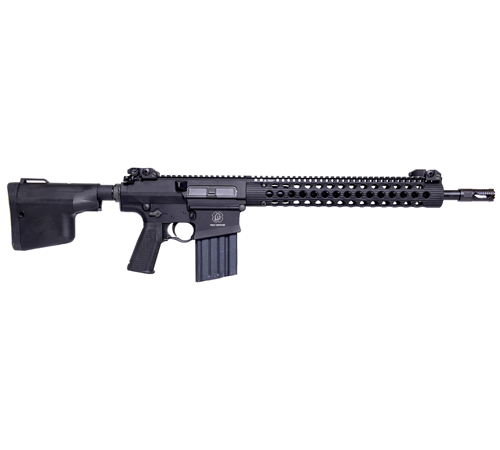 TroyDef SRIF38R16BT 308 Rifle SA 308|7.62 16 20+1 Troy BattleAx Collapsible Blk in.