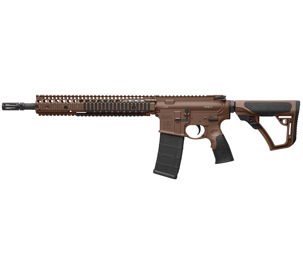 Daniel Defense 15126011 DDM4 M4A1 Semi-Automatic 223 Remington|5.56 NATO 14.5 30+1 6-Position Brown Stk Brown Cerakote|Black Phosphate in.