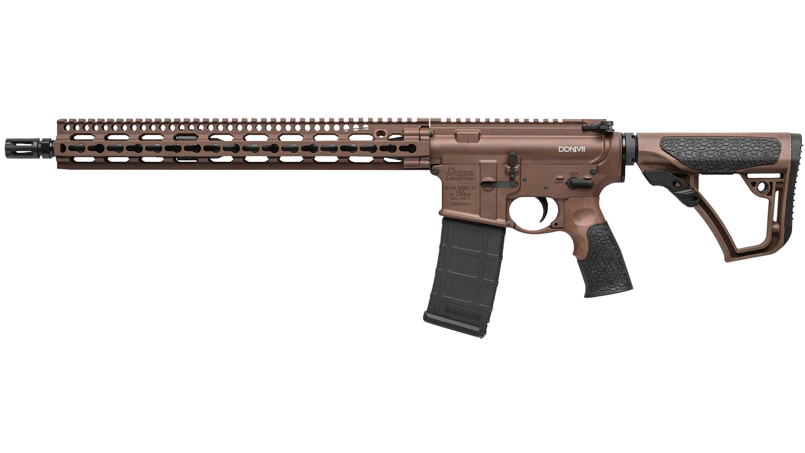 Daniel Defense 00257047 DDM4 V11 Semi-Automatic 223 Remington|5.56 NATO 16 30+1 6-Position Brown Stk Brown Cerakote|Black Phosphate in.