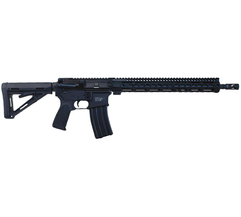 Windham Weaponry R16MLSFS3G7 Way of the Gun Carbine Semi-Automatic 223 Remington|5.56 NATO 16 30+1 6-Position Black Stk Black Hard Coat Anodized in.