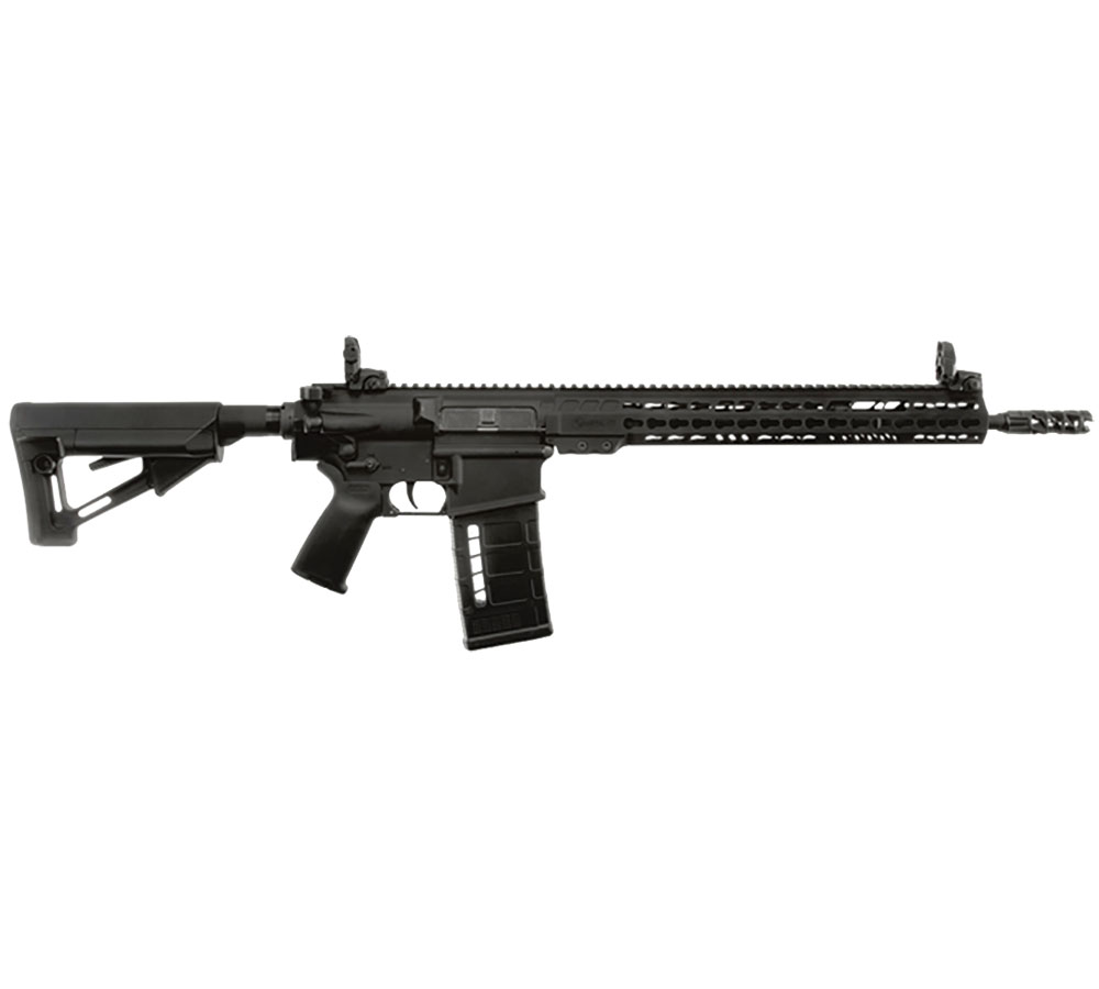 ArmaLite AR10TAC16 AR-10 Tactical Rifle Semi-Automatic 308 Winchester|7.62 NATO 16 FS 25+1 MBUS Magpul STR Blk Stk Blk Hard Coat Anodized|Phosphate in.